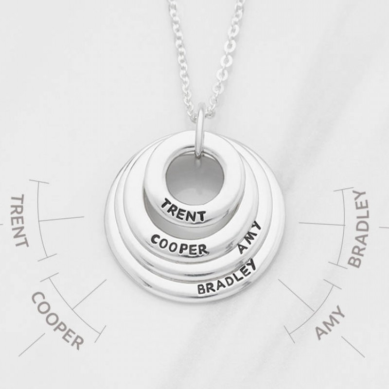 Grandmother Necklace Personalized Nana Gift Multiple Name