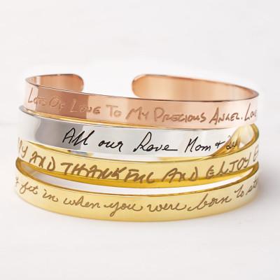Handwriting Bracelet • Handwritten Bangle •  Silver Handwritten Bracelet • Signature Bracelet • Memorial gift