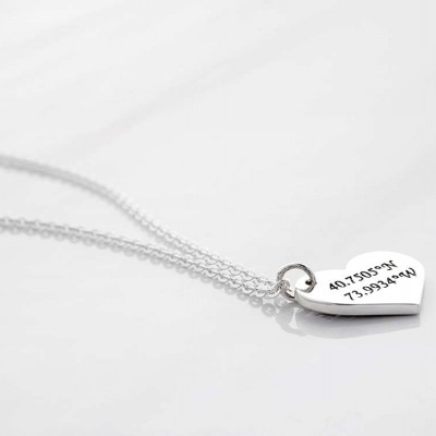 Heart coordinates necklace • Latitude longitude necklace • College graduation gifts • High school graduation gifts