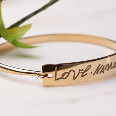 Memorial Bracelet • Handwriting Bracelet • Handwriting Jewelry in Silver • Handwriting Gift • Handwritten Jewelry