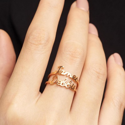 Personalized Name Ring • Gold Name Ring • Stacking Ring • Stackable Mother Ring • Name Stack Ring (Price is for ONE ring)