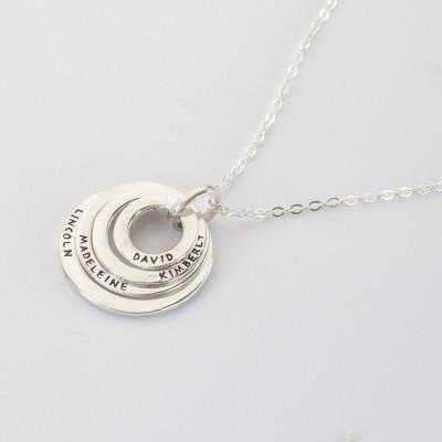personalized grandma jewelry nana jewelry circle necklace with