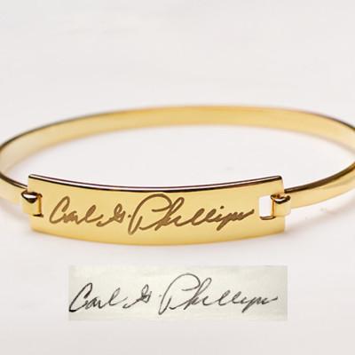 Signature bracelet • Signature jewelry • Handwriting bracelet in Sterling Silver • Signature Gift • Handwritten Jewelry