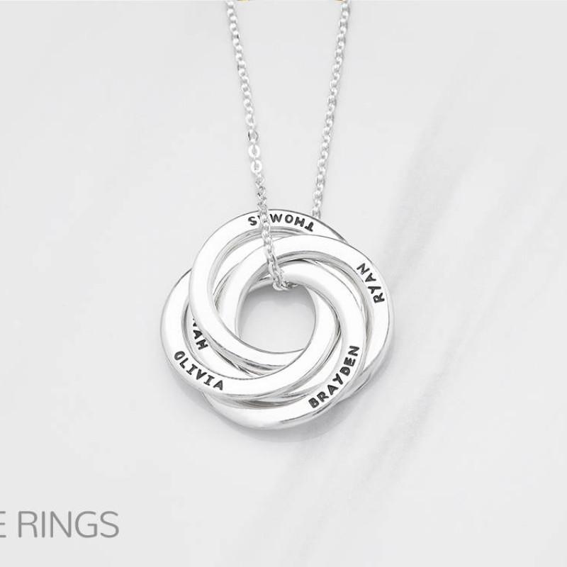 Grandmother jewelry • Grandma birthday gift • Engraved ...