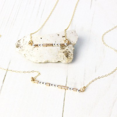 Delicate Morse Code Necklace / 18k Gold Plated & Sterling Silver / Personalised Necklace / Minimalist / Gift For Her
