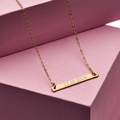 Personalised Special Date Bar Necklace