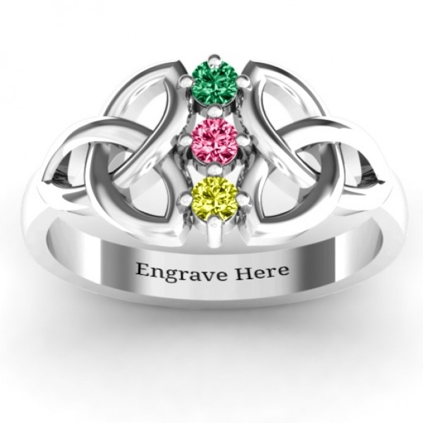 Sláine Celtic Knot Personalised Ring - AMAZINGNECKLACE.COM