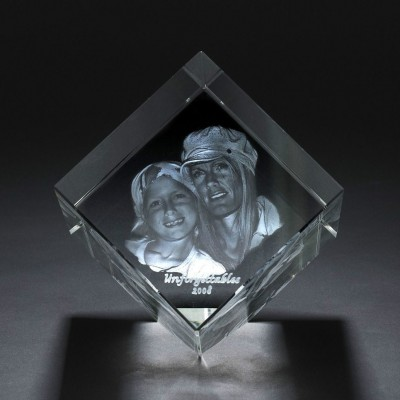 Square Crystal With Photo/Text Engraved Inside - AMAZINGNECKLACE.COM