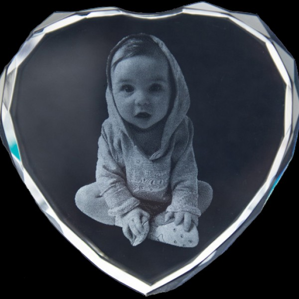 Photo Engraved Crystals In Custom Made Shapes - AMAZINGNECKLACE.COM