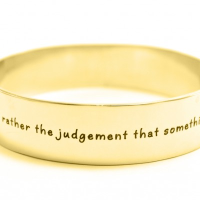 Personalised 15mm Wide Endless Bangle - 18ct Gold Plated - AMAZINGNECKLACE.COM