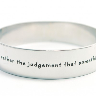 Personalised 15mm Wide Endless Bangle - Silver - AMAZINGNECKLACE.COM