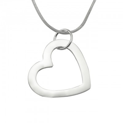 Personalised Always in My Heart Necklace - Sterling Silver - AMAZINGNECKLACE.COM