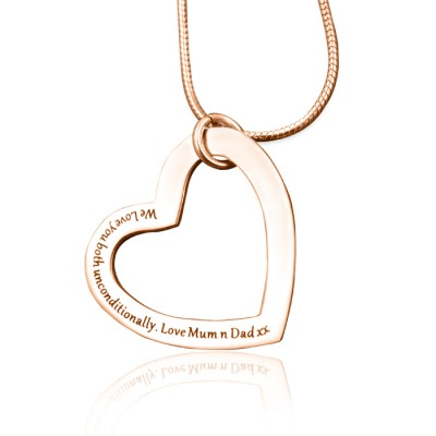 Personalised Always in My Heart Necklace - 18ct  Rose Gold Plated - AMAZINGNECKLACE.COM