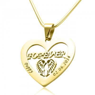 Personalised Angel in My Heart Necklace - 18ct Gold Plated - AMAZINGNECKLACE.COM