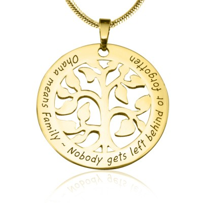 Personalised Ohana Tree - 18ct Gold Plated *Limited Edition - AMAZINGNECKLACE.COM