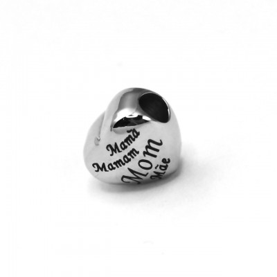 Personalised Mothers Heart Charm for Charm Bangle - AMAZINGNECKLACE.COM