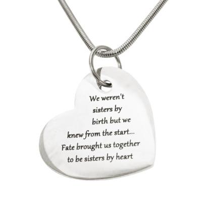 Personalised Bottom of My Heart - AMAZINGNECKLACE.COM
