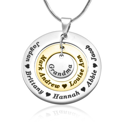 Personalised Circles of Love Necklace - TWO TONE - Gold  Silver - AMAZINGNECKLACE.COM