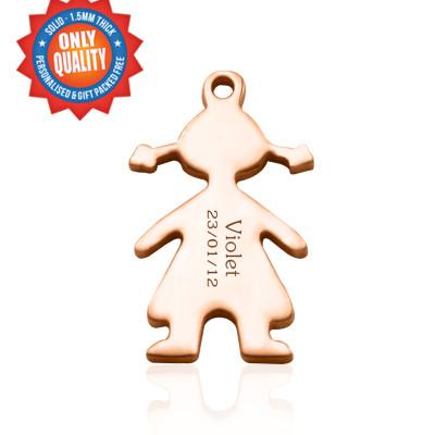 Personalised Children Charm - Dream Locket - AMAZINGNECKLACE.COM
