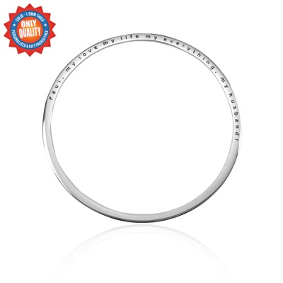 Personalised Classic Bangle - Sterling Silver - AMAZINGNECKLACE.COM