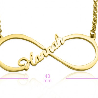 Personalised Single Infinity Name Necklace - 18ct Gold Plated - AMAZINGNECKLACE.COM