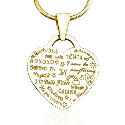 Personalised Heart of Hope Necklace - 18ct Gold Plated - AMAZINGNECKLACE.COM