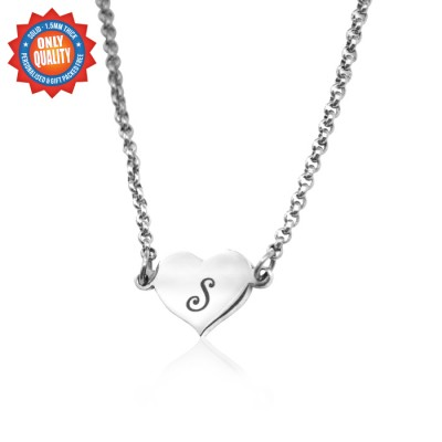 Personalised Precious Heart - Sterling Silver - AMAZINGNECKLACE.COM