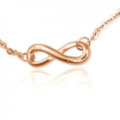 Personalised Classic  Infinity Bracelet/Anklet - 18ct Rose Gold Plated - AMAZINGNECKLACE.COM
