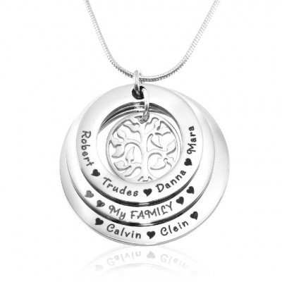 Personalised Family Triple Love - Sterling Silver - AMAZINGNECKLACE.COM