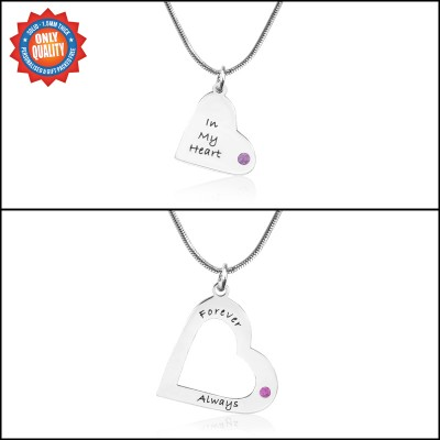 Personalised Mothers Heart Pendant Necklace Set - AMAZINGNECKLACE.COM