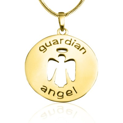 Personalised Guardian Angel Necklace 1 - 18ct Gold Plated - AMAZINGNECKLACE.COM