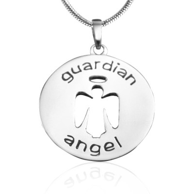 Personalised Guardian Angel Necklace 1 - Sterling Silver - AMAZINGNECKLACE.COM