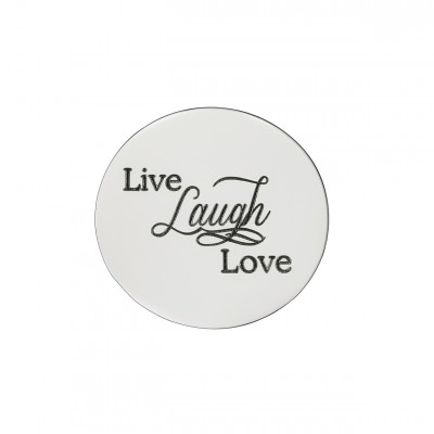 Personalised Live Laugh Love Disc - Dream Locket - AMAZINGNECKLACE.COM
