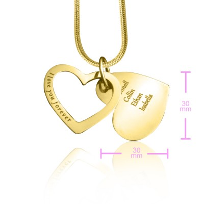 Personalised Love Forever Necklace - 18ct Gold Plated - AMAZINGNECKLACE.COM