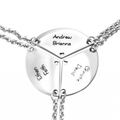 Personalised Meet at the Heart Triple - Three Personalised Necklaces - AMAZINGNECKLACE.COM
