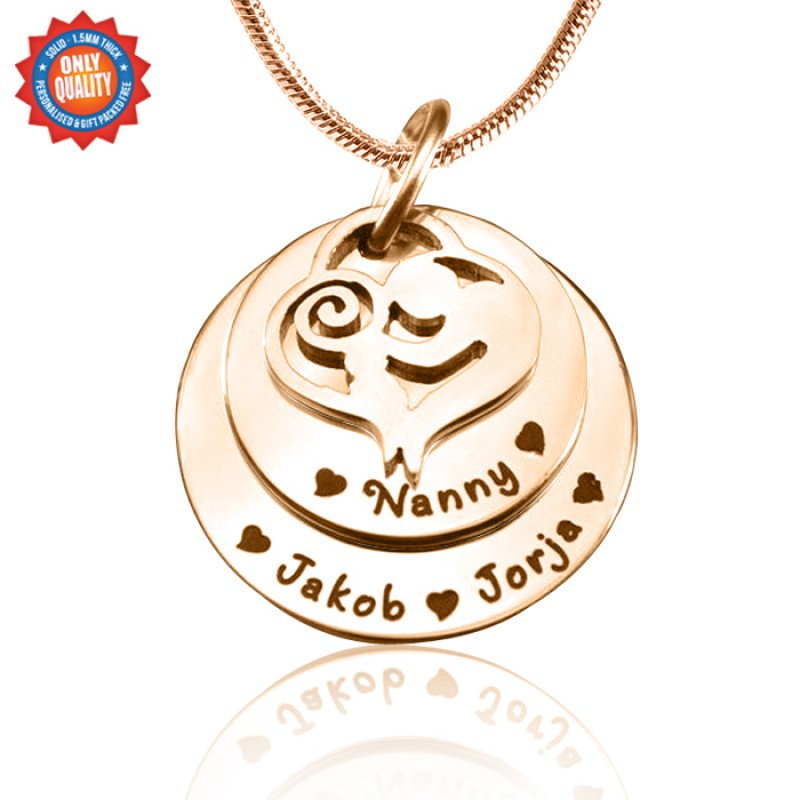 c1501798d49b7 Personalised Mother's Disc Double Necklace - 18ct Rose Gold Plated ...
