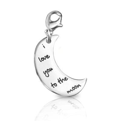 Personalised Moon Charm - AMAZINGNECKLACE.COM