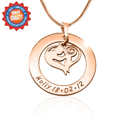 Personalised Mothers Love Necklace - 18ct Rose Gold Plated - AMAZINGNECKLACE.COM