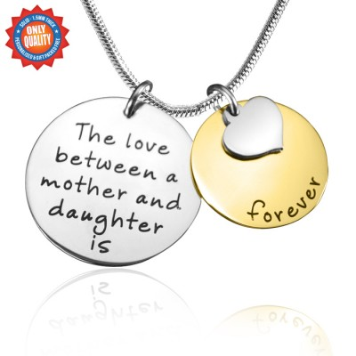Personalised Mother Forever Necklace - Two Tone - Gold  Silver - AMAZINGNECKLACE.COM