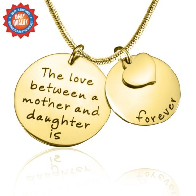 Personalised Mother Forever Necklace - 18ct Gold Plated - AMAZINGNECKLACE.COM
