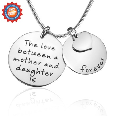 Personalised Mother Forever Necklace - Silver - AMAZINGNECKLACE.COM