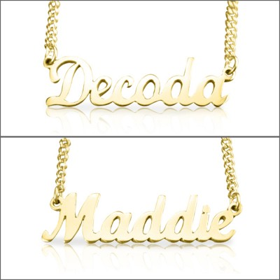 Personalised Name Necklace - 18ct Gold Plated - AMAZINGNECKLACE.COM