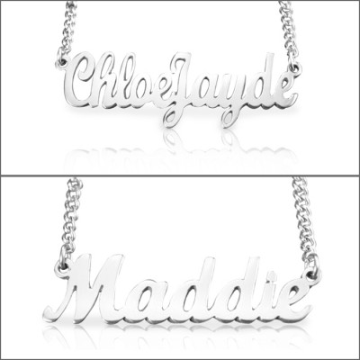Personalised Name Necklace - Sterling Silver - AMAZINGNECKLACE.COM