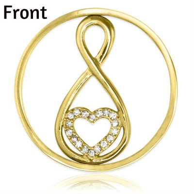 Personalised Gold Infinity - Diamonte INSERT ONLY - AMAZINGNECKLACE.COM
