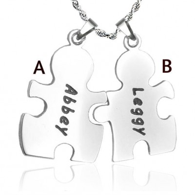 Personalised Puzzle Necklace - Sterling Silver - AMAZINGNECKLACE.COM