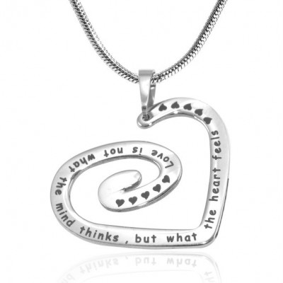 Personalised Swirls of My Heart Necklace - Sterling Silver - AMAZINGNECKLACE.COM
