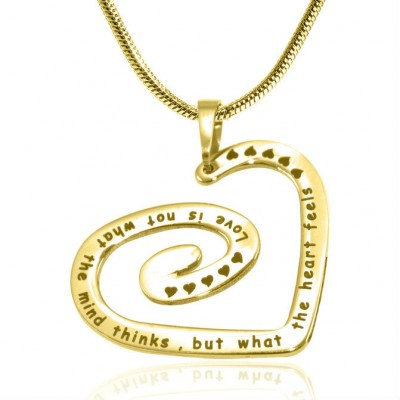 Personalised Swirls of My Heart Necklace - 18ct Gold Plated - AMAZINGNECKLACE.COM