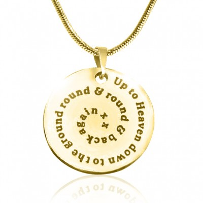 Personalised Swirls of Time Disc Necklace - 18ct Gold Plated - AMAZINGNECKLACE.COM