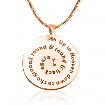 Personalised Swirls of Time Disc Necklace - 18ct Rose Gold Plated - AMAZINGNECKLACE.COM