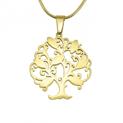 Personalised Tree of My Life Necklace 7 - 18ct Gold Plated - AMAZINGNECKLACE.COM
